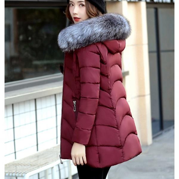 c52df441237 Хлопковая куртка AliExpress Winter Hooded Solid color Women Cotton Jacket  2017 New Fashion Comfortable Medium long Temperament Women Cotton Jacket  SES803 - ...