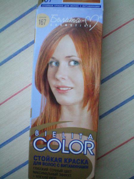 Краска для волос белита колор палитра