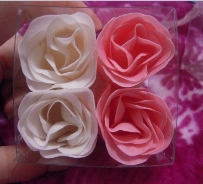 Мыло своими руками в форме розы 78