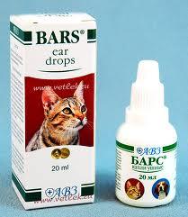 Барс капли ушные для собак и кошек 20 мл.
