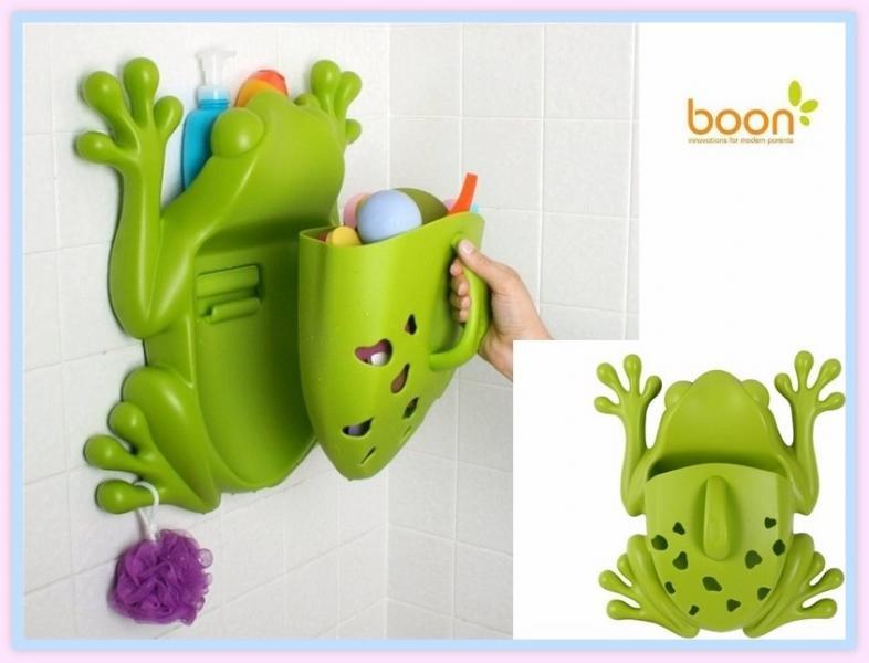 Boon контейнер для игрушек для ванной комнаты лягушка