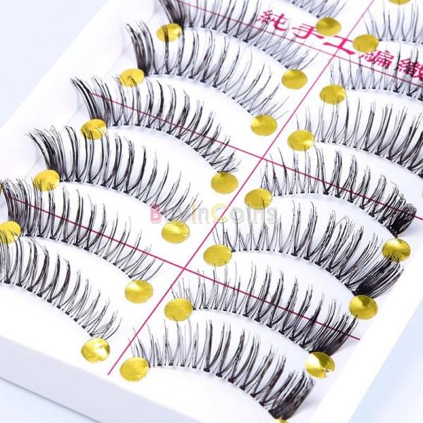 Накладные ресницы Buyincoins 10 Pairs Soft Long False Eyelashes F8, Fashion Natural Handmade Women Makeup Girl Cosmetic Beauty Tools - отзывы