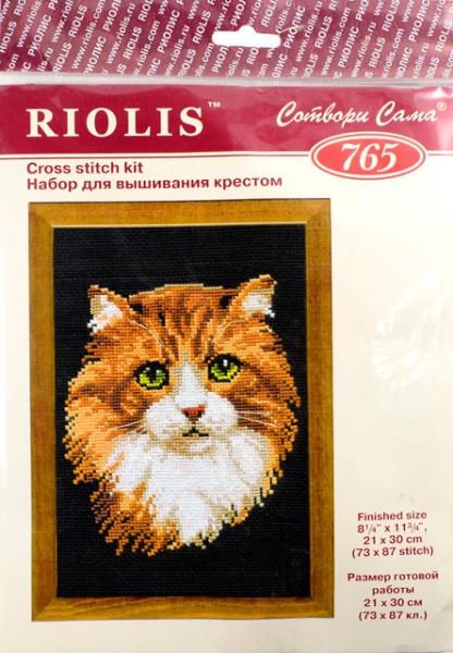 Вышивка крестом риолис кот