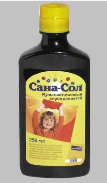 Санасол сироп для детей инструкция
