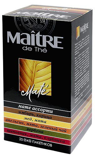 чай зеленый Maitre классик ассорти в пакетиках