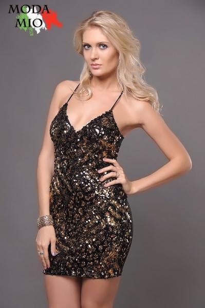 Золотое С Черным Платье Доставка