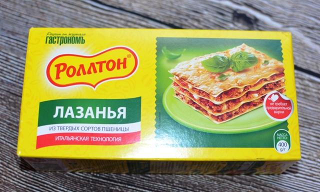 лазанья ролтон с фаршем рецепт с фото