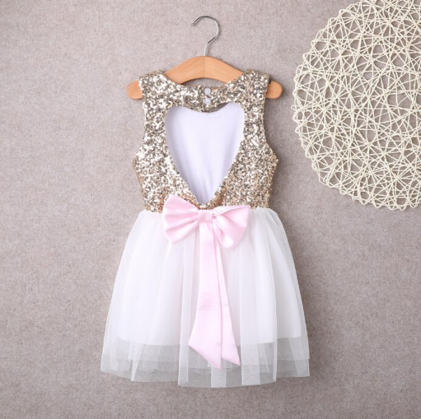 61f4bbdb33e Платье детское AliExpress 3-10Y Children Baby Girl Dress Clothing Sequins  Party Gown Mini Ball Formal Love Backless Princess Bow Backless Gown Dress  Girl - ...