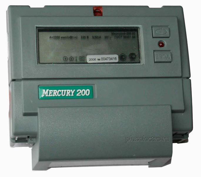 счётчик меркурий 200.02 инструкция