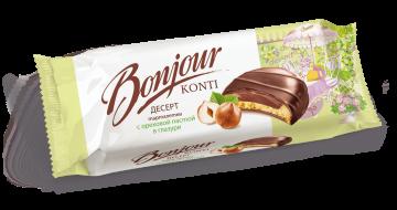тарталетки конти Bonjour с ореховой пастой в глазури