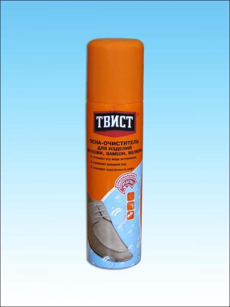 863d90e8f Пена-очиститель ТВИСТ для изделий из кожи, замши, велюра   Отзывы ...