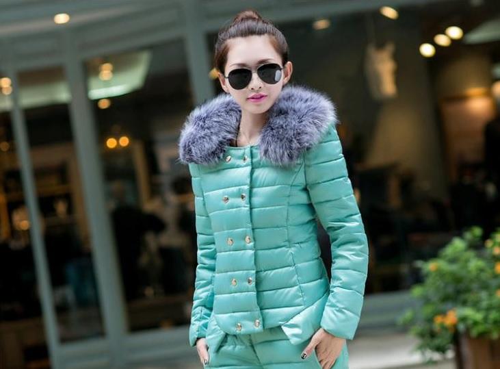 e3f175330a0c Костюм AliExpress Coat+Pants Sport suit Women 2014 Fur Collar Winter Korean  Slim Female Military Jacket Down Padded Cotton Fashion Overcoat Parka -  отзыв