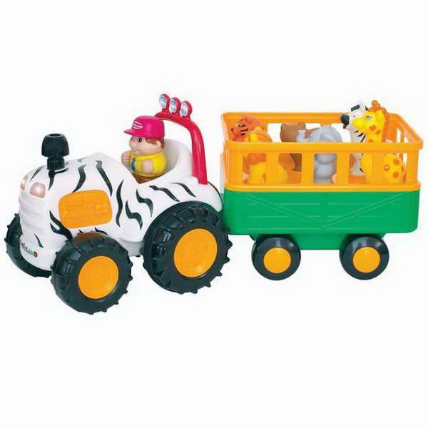 Развивающая игрушка поезд с животными kiddieland