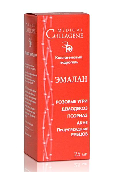 Коллагеновый гидрогель эмалан от прыщей и угрей medical collagene.