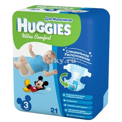 Подгузники Huggies Ultra Comfort для мальчиков   Отзывы покупателей c876a2563dc