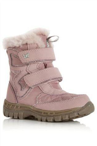 Зимние ботинки Next Розовые с бабочкой (Девочки) 684-179 фото b8cc64c802199