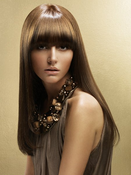 Схема при брондирование волос
