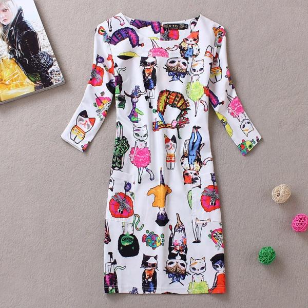Платье с кошкой с алиэкспресс