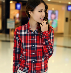 женская клетчатая рубашка фото