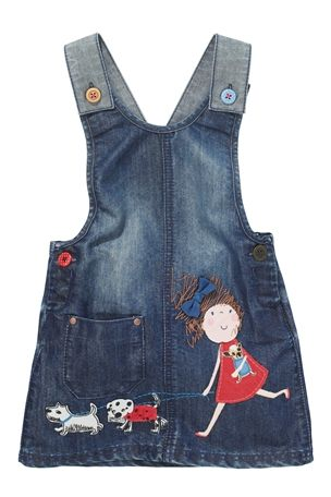 6d50ddc031f Сарафан NEXT Джинсовое платье-сарафан с девочкой из мультика (от 3 мес. до