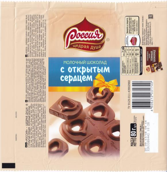 шоколадку в дырки