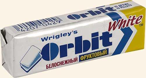 Жев/резинка орбит белоснежный фруктовый 10 драже 14Г