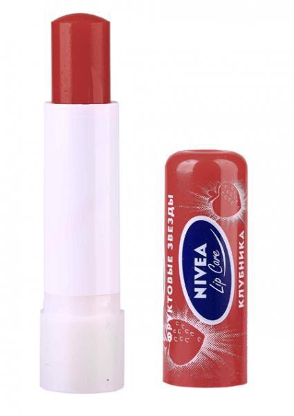 """Бальзам для губ  """"Фруктовое Сияние Клубника """" - Nivea Lip Care (4.8g) ."""