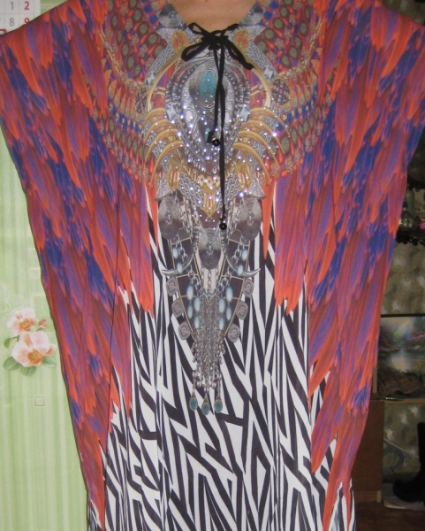 Платье-туника AliExpress Lyprerazy Boho Leopard summer sundress Beach  Sarongs large size robes women Plus size Chiffon print Bohemian long maxi  dress №5 - ... f83f0015e7c3