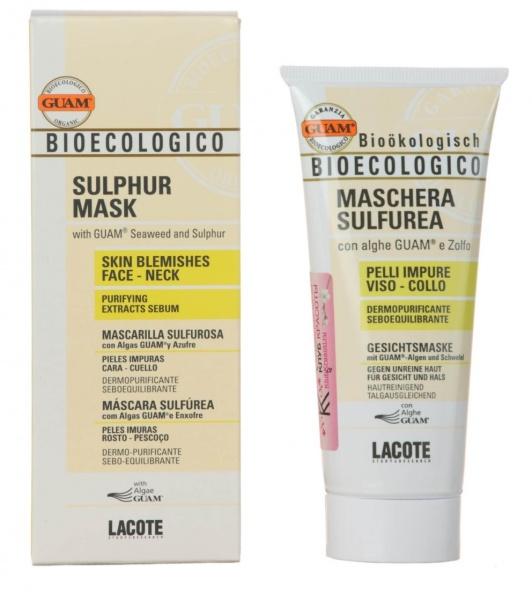 Маска для лица guam биоэкологическая с серой sulphur mask отзывы покупателей.