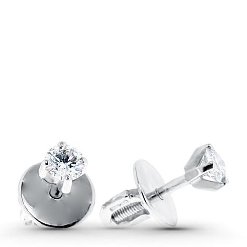 Серьги-гвоздики из золота и серебра в Москве Купить