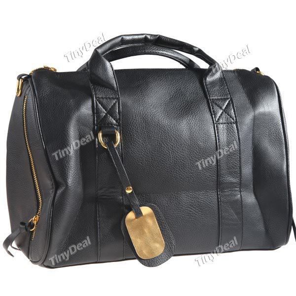 TinyDeal Korean Style Studs Bottom Synthetic Leather Lounge Shoulder Bag...