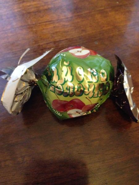 Конфеты райское яблочко в шоколадной глазури калории