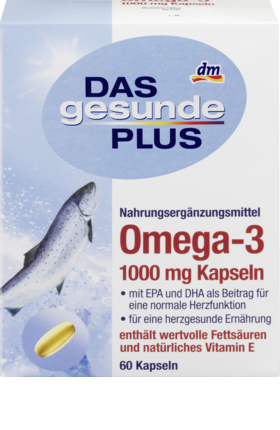 рыбий жир Das Gesunde Plus бад Omega 3 с витамином е 1000 Mg