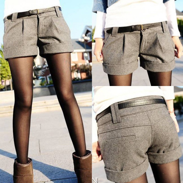 ebay womens woolen shorts crimping short fashion winter pants low waist m l xl. Black Bedroom Furniture Sets. Home Design Ideas