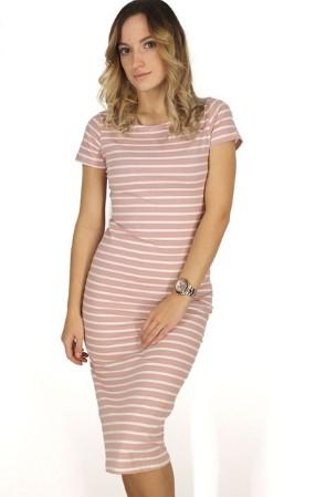 dab9f96e179 Платье AliExpress FATIKA Women Casual Summer Dress Short Sleeve O-Neck  Bodycon Dress Striped Side Split T Shirt Women s Slim Fit Dresses - отзывы