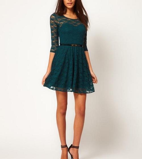 Платье выше зеленое чему снится колен к