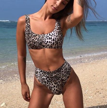 fdacb7849c152 Купальник AliExpress Women's piquant swimsuit swimming swimsuit bikini  swimsuit For women bikini with leopard pattern lining push-up bathing  clothes ...