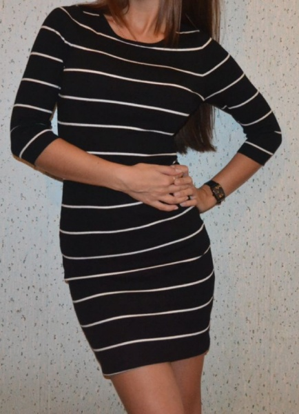 Полосато платье инсити