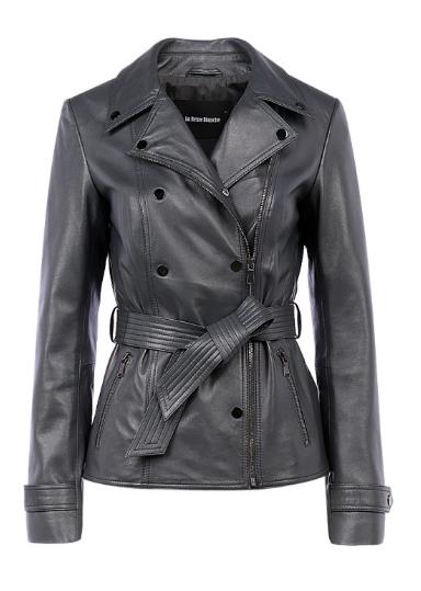 de8c9d2611b2 Женская кожаная куртка с поясом La reine blanche 180033000   Отзывы ...