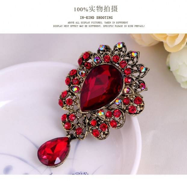 f0c0e7d20 Брошь Aliexpress 2015 Autumn New Gold Brooch Bouquet Brand Jewelry Big Red  Brooch Pins For Women Wedding Jewelry Clothes Scarf Accessories - отзывы
