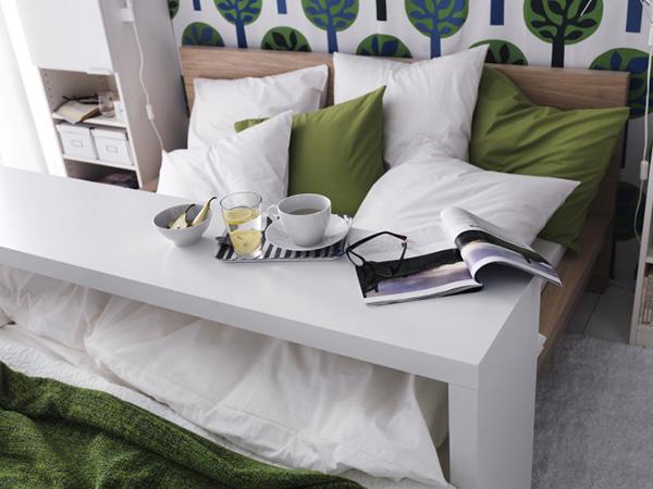 икеа мальм стол приставной белый арт 80196480