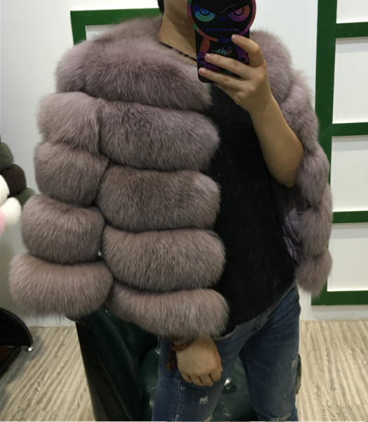 02e9260e43f Шуба AliExpress BFFUR Women Fox Fur Coat 2017 New Short Thick Fox Fur  Winter Female Jacket Long Sleeve Genuine Fur Coat Natural BF-C0011 - отзыв