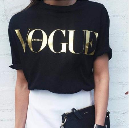 82db66c28078 Футболка AliExpress Plus Size S-XL Fashion Summer T Shirt Women VOGUE  Printed T-shirt Women Tops Tee Shirt Femme New Arrivals Hot Sale Casual  Sakura Fashion ...