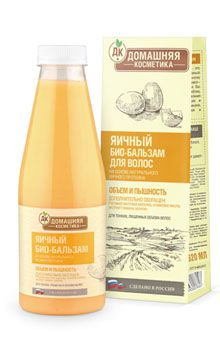 Яичный бальзам для волос домашняя косметика