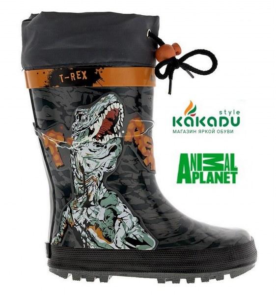 ab608caea Резиновые сапоги Kakadu Animal Planet утепленные Артикул 6065B_RE - отзывы