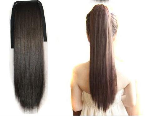 Искусственный хвост для волос фото