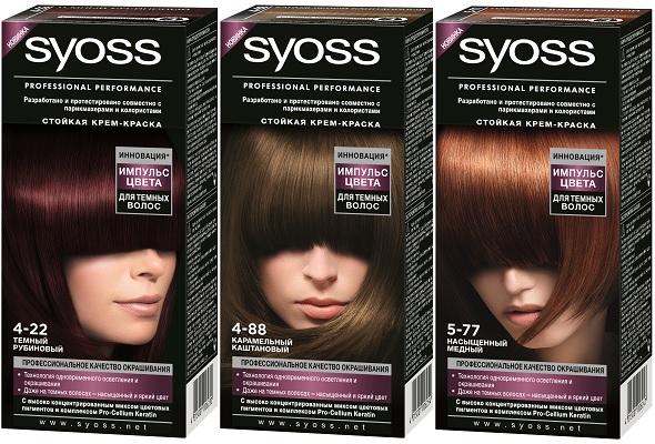 Сьёс краска для волос палитра цена