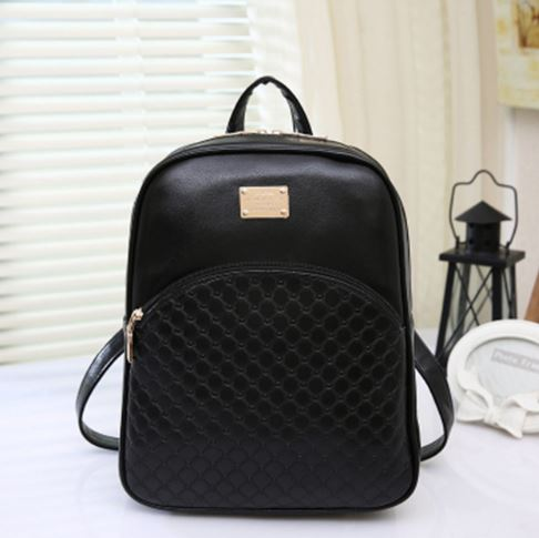 Рюкзак женский Aliexpress New 2016 Fashion Women Backpack Leather Black  Shoulder Bags Soft PU Leather Embossing Women s Daily School Bag Free  Shipping - ... c10aab9297a