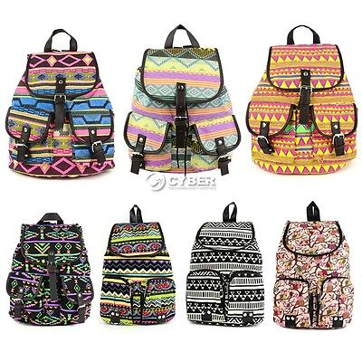 b2d91ef3bce4 Рюкзак Ebay Women Girl Vintage Canvas Floral School Satchel Rucksack  Backpack Campus Bag - отзыв