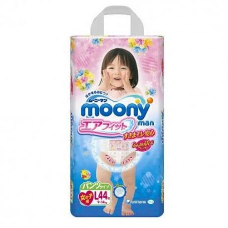 bec35a5abe14 Подгузники-трусики Moony для девочек L(9-14)   Отзывы покупателей